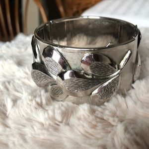 Vintage Whiting & Davis hinged statement Bracelet
